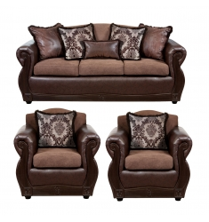 LIVING DECO MUEBLES GRAN COLUMBIA CHOCO