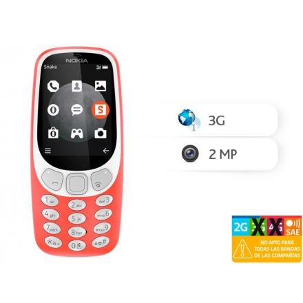 TELEFONO CELULAR MOVISTAR NOKIA 3310 ROJO